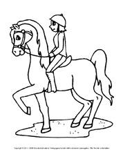 Ausmalbild In Der Grundschule Ausmalbilder Pferde Tiere Zum