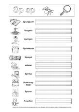 Buchstabe Sp (Arbeitsblatt) in der Grundschule - Feinmotorik und ...
