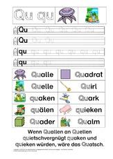 Buchstabe Qu in der Grundschule - Grundschulmaterial.de