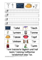 Buchstaben nachspuren (Arbeitsblatt) in der Grundschule - Förderung ...