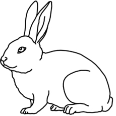 F j nomengrafiken zum ausmalen material klasse 1 for Hase malen