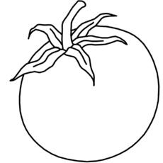 Tomate ausmalbild  Ausmalbild (Grafik) in der Grundschule - T-Z - Nomengrafiken zum ...