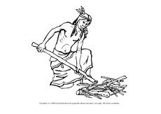 indianer ausmalbilder ausmalbilder bildende kunst material klasse 2. Black Bedroom Furniture Sets. Home Design Ideas