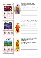 Feiertag (Arbeitsblatt) in der Grundschule - Kalender - Material ...