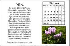 Gedichtkalender Für Gestaltungsmaterial In Der Grundschule