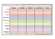 Hausaufgaben in der Grundschule - Jahreskalender 09 - Kalender 2009 ...