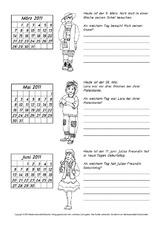 Arbeitsblätter Kalender 2011 in der Grundschule - Kalender ...