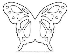 Schmetterling bastelvorlage in der grundschule - Fensterbilder transparentpapier ...