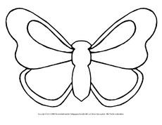Schmetterling bastelvorlage in der grundschule material klasse 3 - Bastelvorlage schmetterling ...
