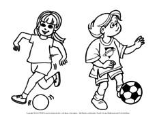 Fußball Ausmalbilder Fußball Material Klassenübergreifendes