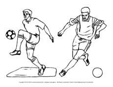 Ausmalbild Fußball In Der Grundschule Fußball Material