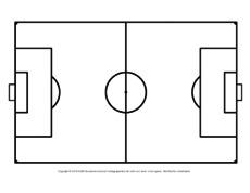 Fussballfeld Arbeitsblatt In Der Grundschule Fussball