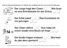 Arbeitsblatt In Der Grundschule Wörtliche Rede Werkstatt