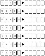 Zahlenraum 10 in der Grundschule - Zahlen ordnen bis 12 sw ...