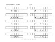 Addition (Arbeitsblatt) in der Grundschule - Addition im Zahlenraum ...