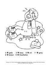 Rechnen Und Ausmalen 1 Addition Im Zahlenraum Bis 10