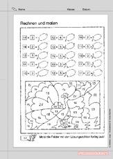 Zahlenraum 20 (Arbeitsblatt) in der Grundschule - Lernpaket Rechnen ...