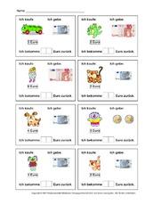 Euro in der Grundschule - Rechnen mit Geld - Arbeitsblätter - Mathe ...
