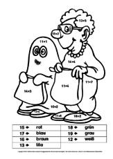 Halloween in der Grundschule - Rechnen und malen - Arbeitsblätter ...