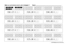 arbeitsblatt in der grundschule mathe klasse 1. Black Bedroom Furniture Sets. Home Design Ideas