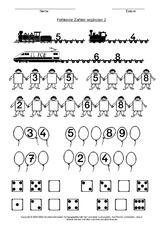 Zahlenfolgen - Arbeitsblätter - Mathe Klasse 1 - Grundschulmaterial.de