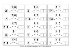 Zahlzerlegung - Arbeitsblätter - Mathe Klasse 1 - Grundschulmaterial.de