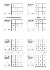 Zahlenraum 20 in der Grundschule - magisches Quadrat ...