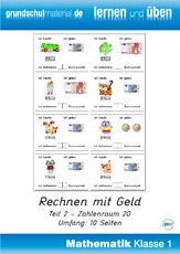 Lernheft in der Grundschule - Mathe Klasse 1 - Grundschulmaterial.de