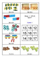 bingo addition 1a pdf mathe klasse 1 spiele bingo plus bis 20