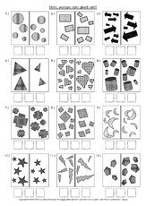 Arbeitsblatt in der Grundschule - kleiner-größer-gleich - Mathe ...