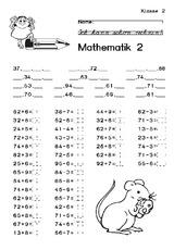 Test (Arbeitsblatt) in der Grundschule - Arbeitsblätter - Mathe ...