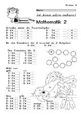 arbeiten arbeitsbl228tter mathe klasse 2