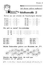 Klassenarbeit (Arbeitsblatt) in der Grundschule - Arbeitsblätter ...