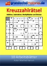 Arbeitsblatt in der Grundschule - Kreuzzahlrätsel - Arbeitsblätter ...