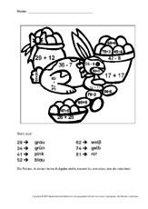 Ostern-Rechnen und malen - Arbeitsblätter - Mathe Klasse 2 ...