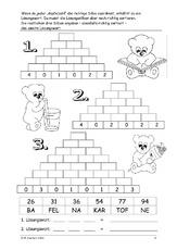 Zahlenmauer (Arbeitsblatt) in der Grundschule - Arbeitsblätter ...