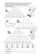 Zahlenmauern B   Zahlenmauer   Arbeitsblätter   Mathe Klasse 2