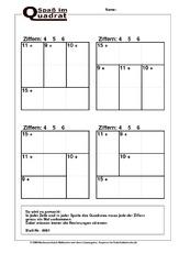 rechenquadrate in der grundschule mathe klasse 2