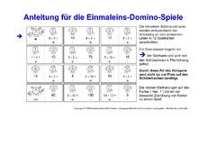 Arbeitsblatt in der Grundschule - Domino 1x1 - Einmaleins - 1x1 ...