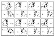 Aufgabe in der Grundschule - Einmaleins-Domino - Tiere - Einmaleins ...