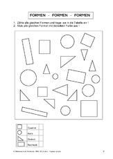 Rechteck (Arbeitsblatt) für Einzelarbeit in der Grundschule ...