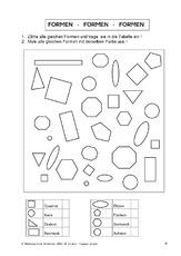 Kreis (Arbeitsblatt) in der Grundschule - Geometrie - Mathe Klasse 2 ...