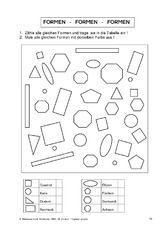 Formen - Geometrie - Mathe Klasse 2 - Grundschulmaterial.de