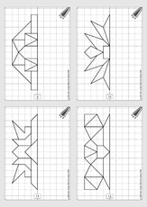 Spiegelung In Der Grundschule Geometrie Mathe Klasse 2
