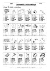 Körper - Geometrie - Mathe Klasse 2 - Grundschulmaterial.de