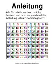 hundertertafel mathe klasse 2 grundschulmaterialde