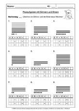unterrichtsmaterial f r einzelarbeit in der grundschule plus und minus im zr bis 100 mathe. Black Bedroom Furniture Sets. Home Design Ideas