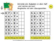 Addieren und Subtrahieren bis 1000 Grundschule Klasse 3