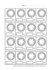 arbeitsbl tter uhrzeit mathe klasse 2. Black Bedroom Furniture Sets. Home Design Ideas