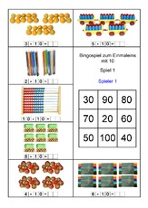Abakus-10x10 - 10er Reihe - Fotos 1x1 - 1x1 Grafiken - Einmaleins ...